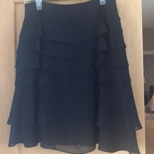JS Collection Ruffle Black Skirt